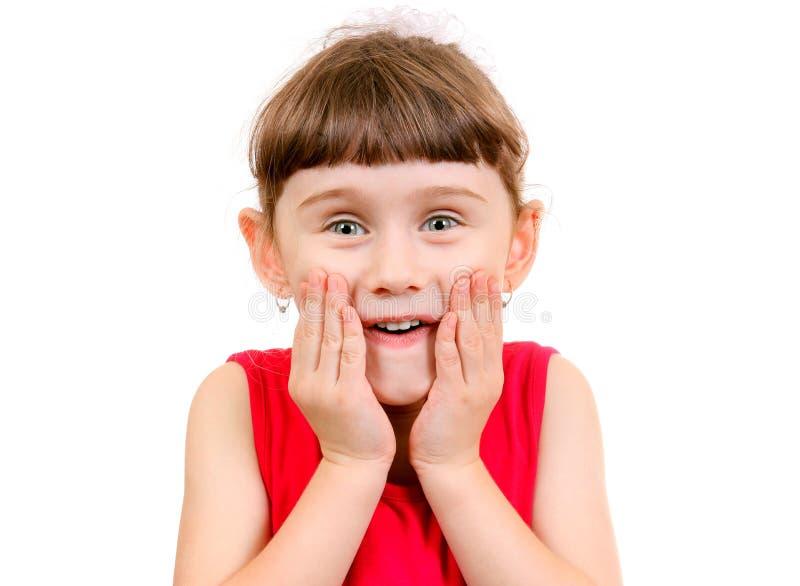 Förvånad liten flicka arkivbilder