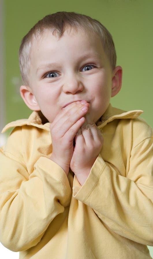 förvånad pojke royaltyfri fotografi