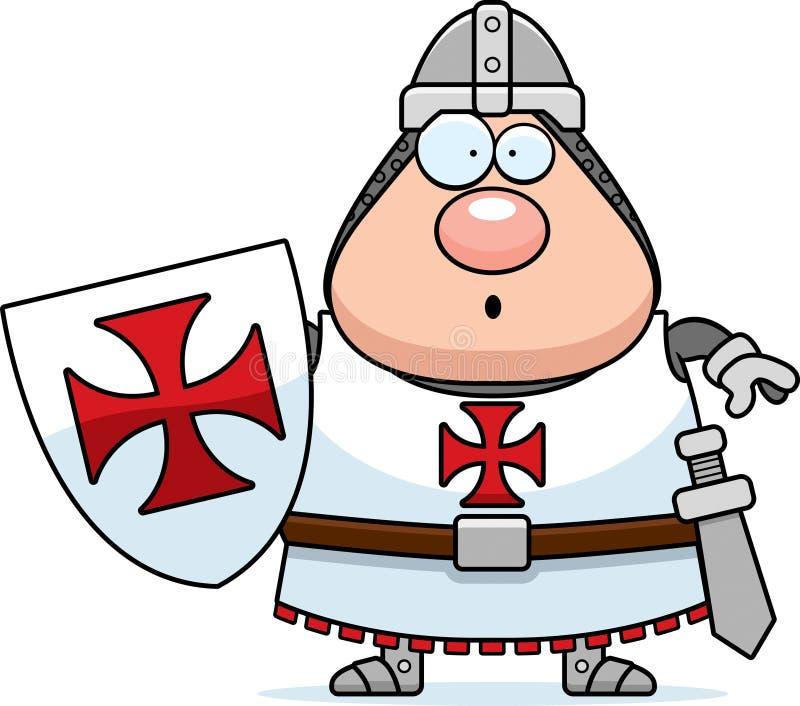 Förvånad tecknad film Templar vektor illustrationer