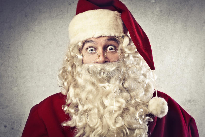 Förvånada Santa Claus royaltyfri fotografi