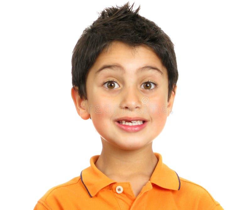 förvånat pojkefoto royaltyfria bilder