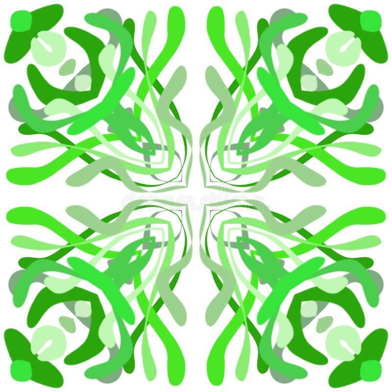Förvirring av grönt gräs, alger stock illustrationer