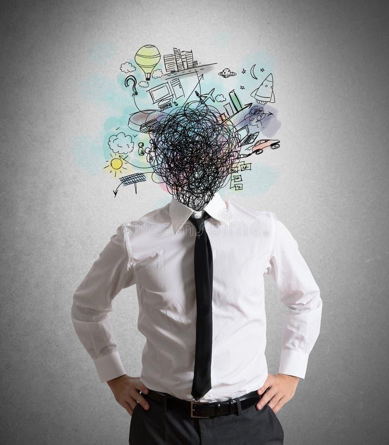 Förvirring av idéer arkivbild