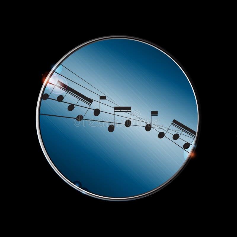 Förvriden musikpentagram och anmärkningsgräns royaltyfri illustrationer