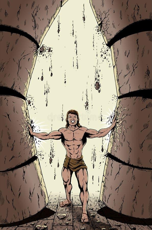 Fúria de Samson ilustração royalty free