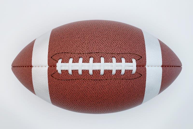 Fútbol americano aislado en el fondo blanco con la trayectoria de recortes Super Bowl Visión superior libre illustration
