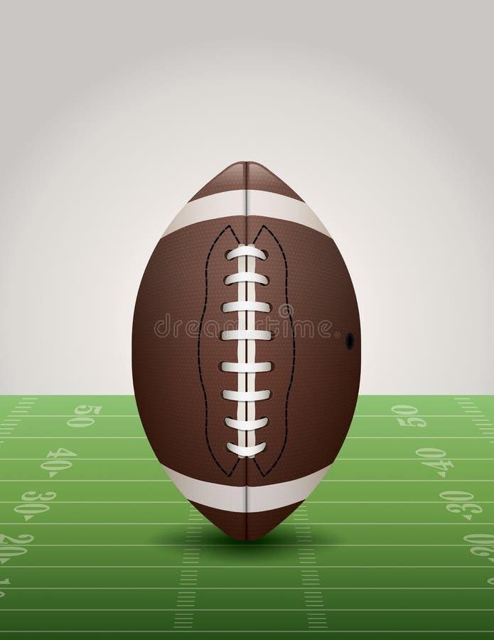 Download Fútbol Americano En El Ejemplo Del Campo De Hierba Ilustración del Vector - Ilustración de americano, fondo: 42427848