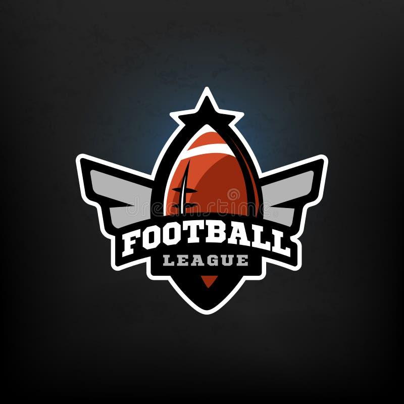 Fútbol americano, logotipo de los deportes stock de ilustración