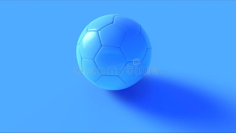 Fútbol azul ilustración del vector