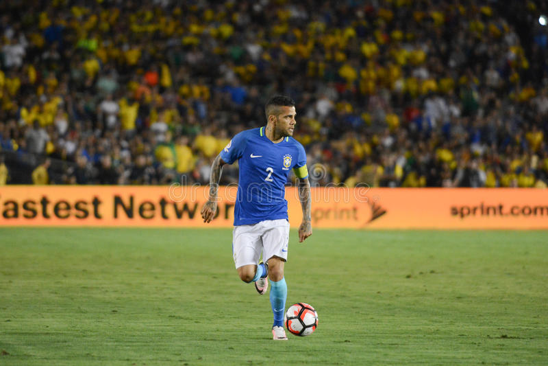 Fútbol brasileño Dani Alves durante Copa América Centenario fotos de archivo