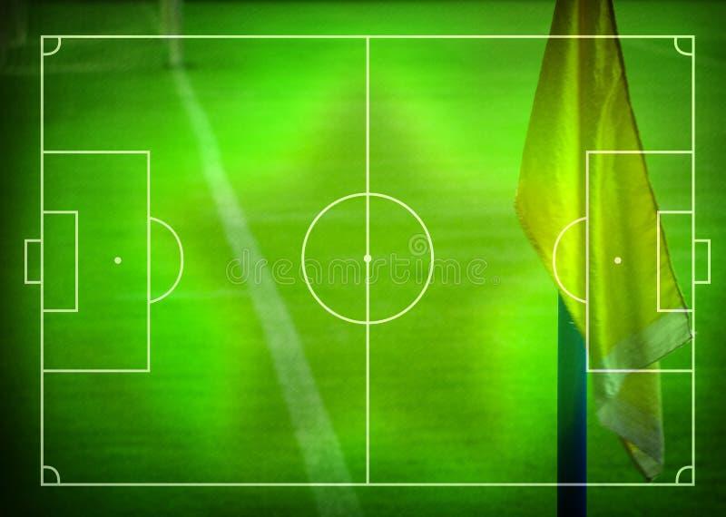Fútbol (campo de fútbol) stock de ilustración