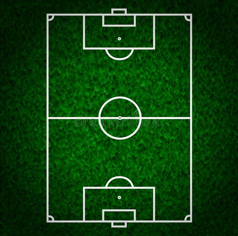 Fútbol (campo de fútbol) ilustración del vector