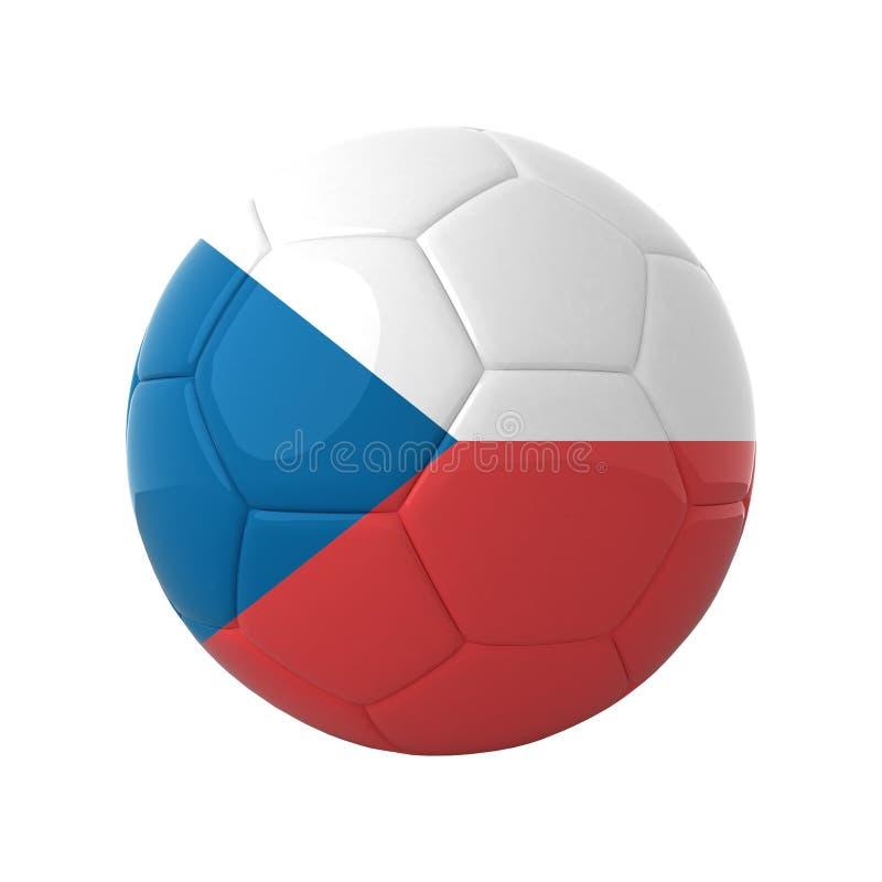 Fútbol checo. stock de ilustración