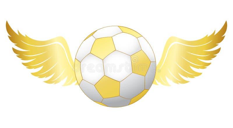 Fútbol con las alas stock de ilustración