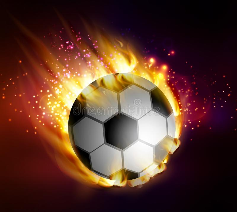 Fútbol con las llamas libre illustration
