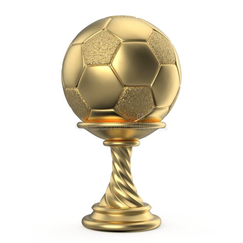 FÚTBOL 3D del FÚTBOL de la taza del trofeo del oro ilustración del vector