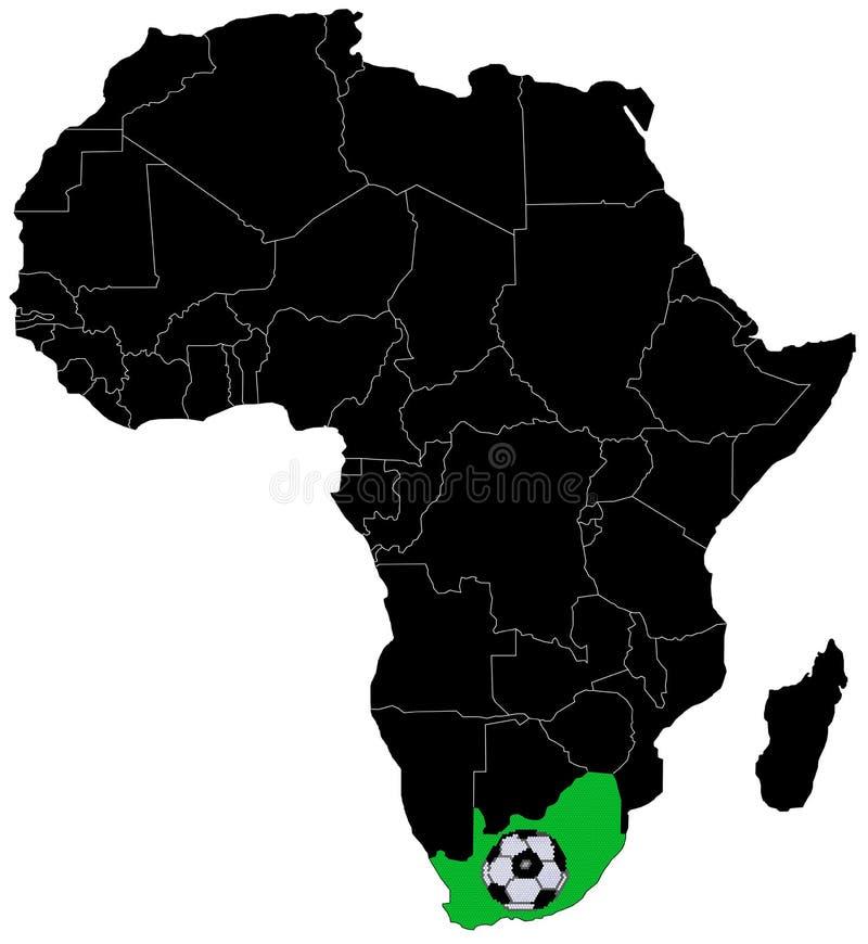 Fútbol de África ilustración del vector