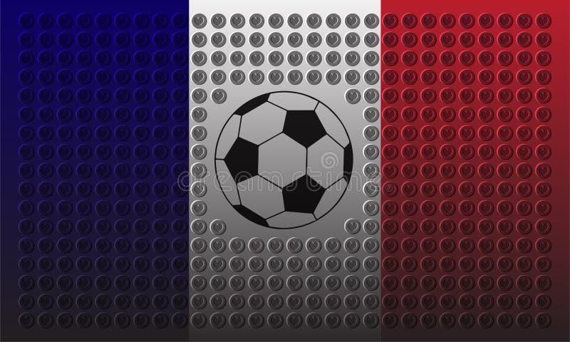 Fútbol de Francia imágenes de archivo libres de regalías