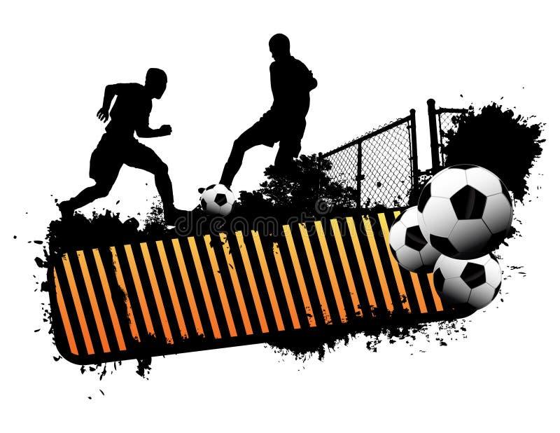 Fútbol de la calle stock de ilustración