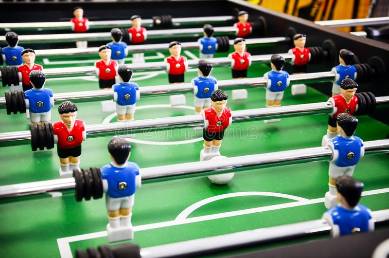 Fútbol de la tabla, foosball fotos de archivo