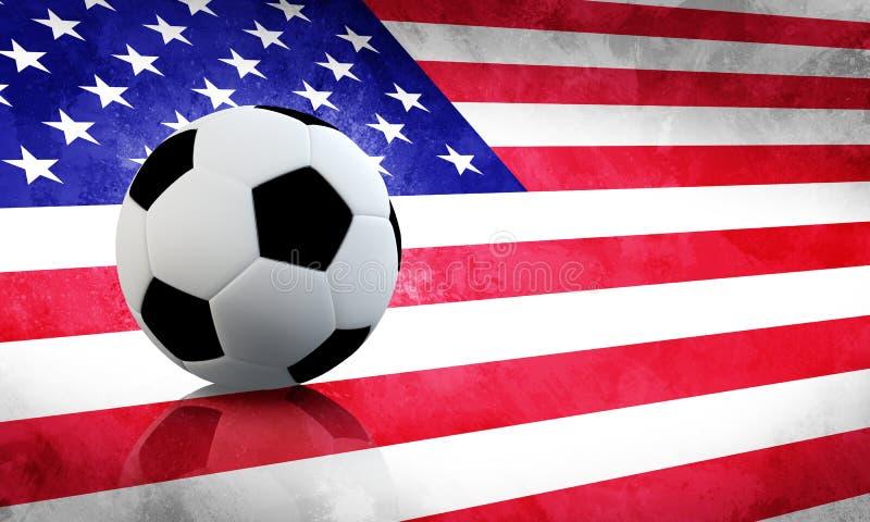 Fútbol de los E.E.U.U. stock de ilustración