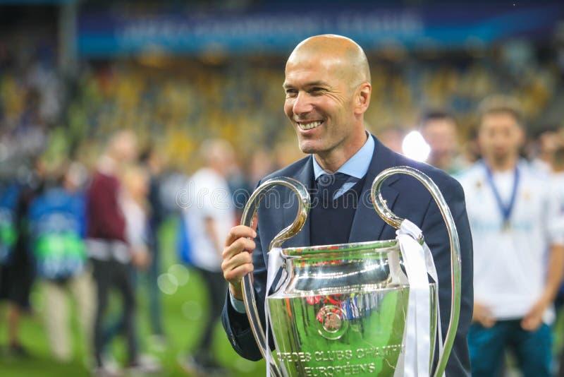 Fútbol de Zinedine Zidane fotografía de archivo libre de regalías