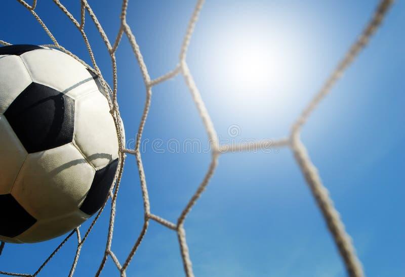 Fútbol del campo de fútbol foto de archivo