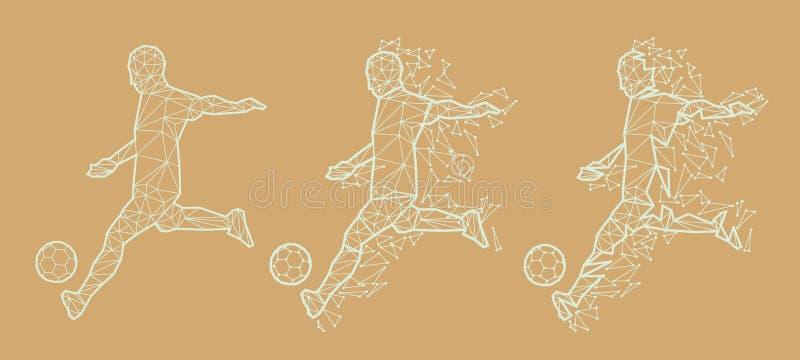 Fútbol del fútbol del ejemplo del vector ilustración del vector