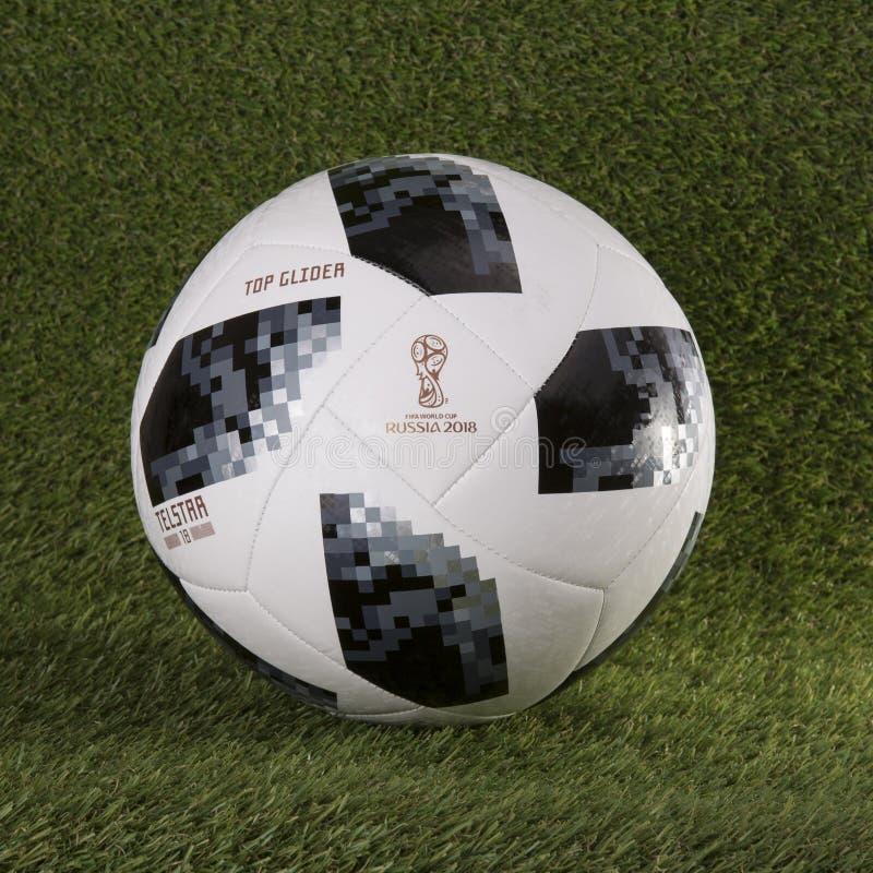 Fútbol 2018 del mundial del planeador del top de Telstar foto de archivo