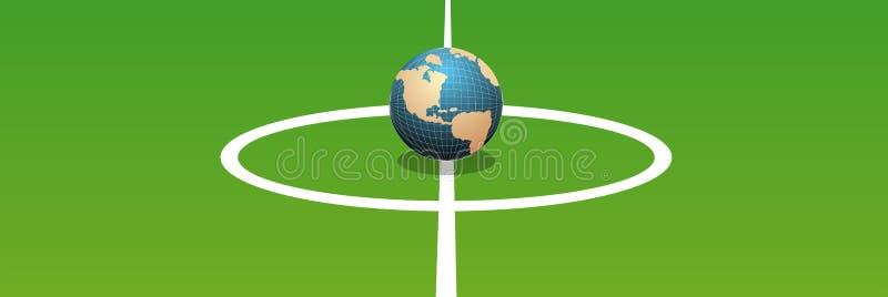 Fútbol del mundo ilustración del vector