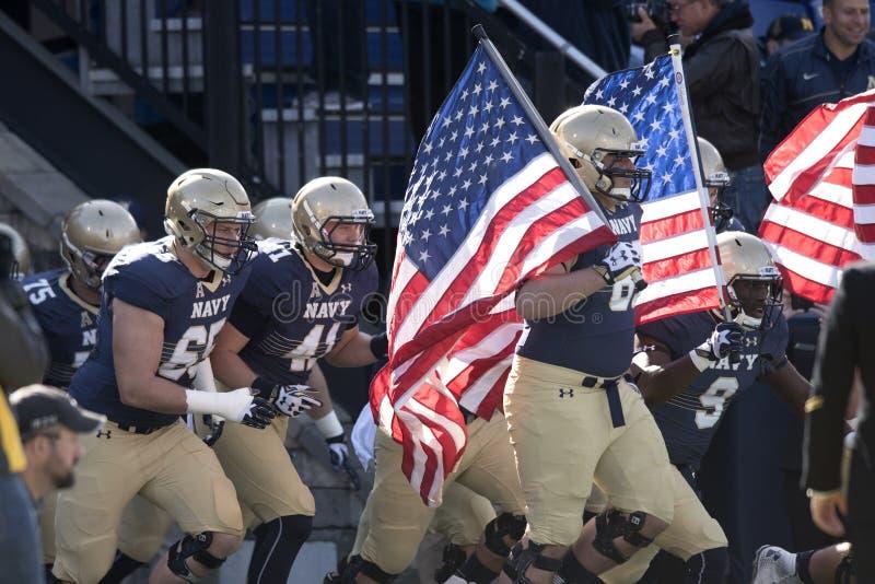 2015 fútbol del NCAA - la Florida del sur en la marina de guerra imagen de archivo libre de regalías