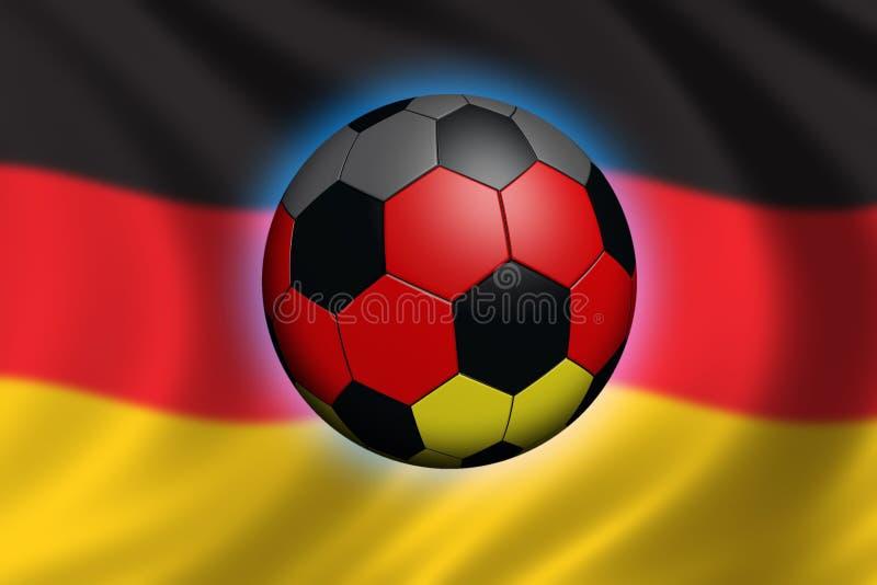 Fútbol en Alemania stock de ilustración