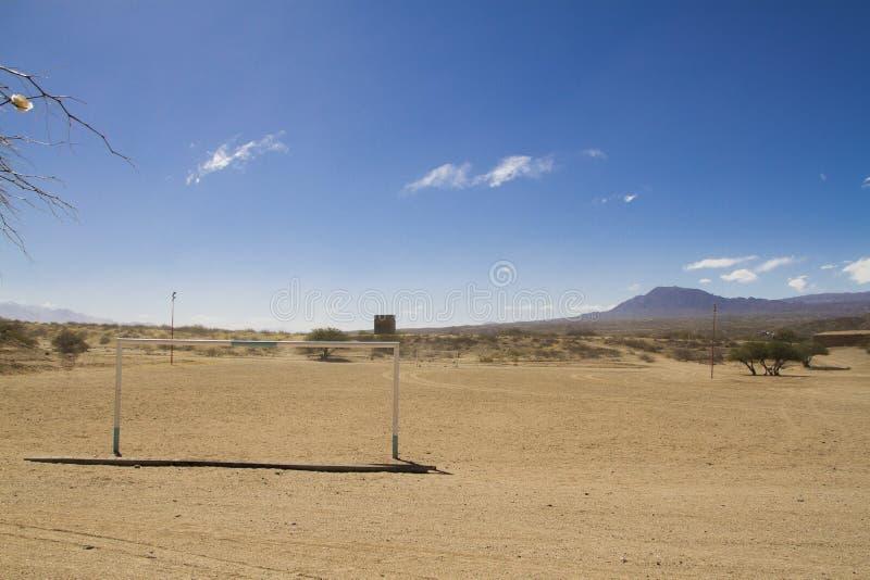 Fútbol en la ruta 40, salta fotografía de archivo libre de regalías