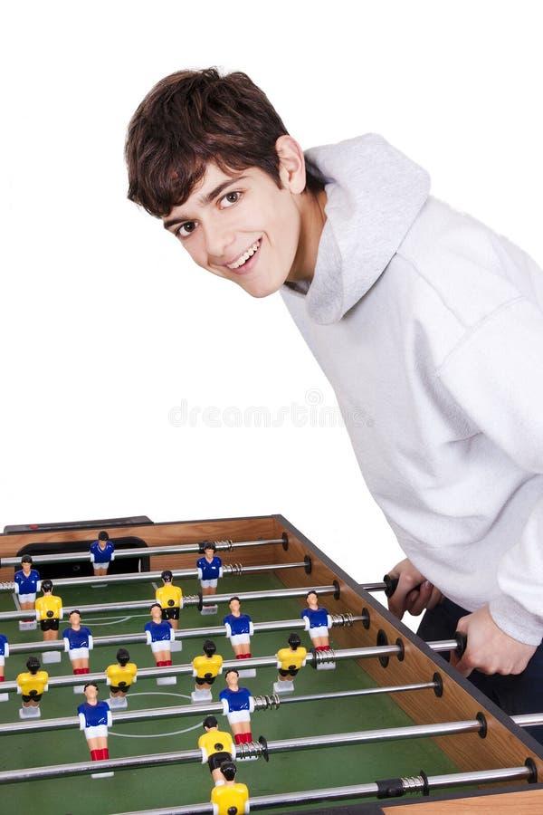 Fútbol en la tabla imagen de archivo