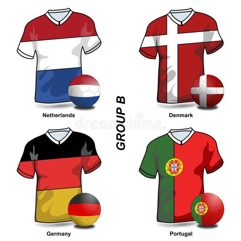 Fútbol europeo - grupo B ilustración del vector