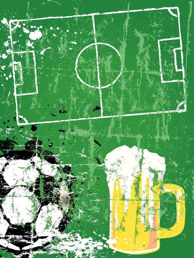 Fútbol/fútbol y cerveza, stock de ilustración