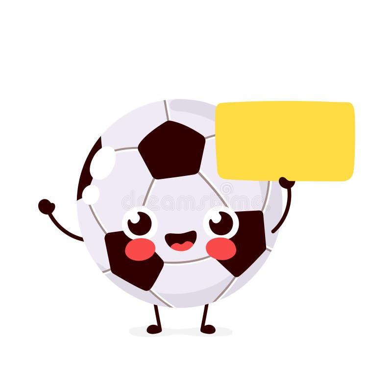 Fútbol feliz sonriente divertido lindo stock de ilustración