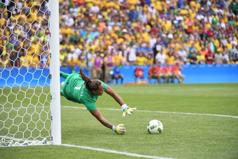 Fútbol para mujer el Brasil foto de archivo