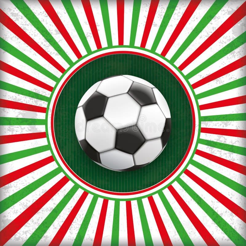 Fútbol retro de Italia del agujero de la cubierta de Sun stock de ilustración