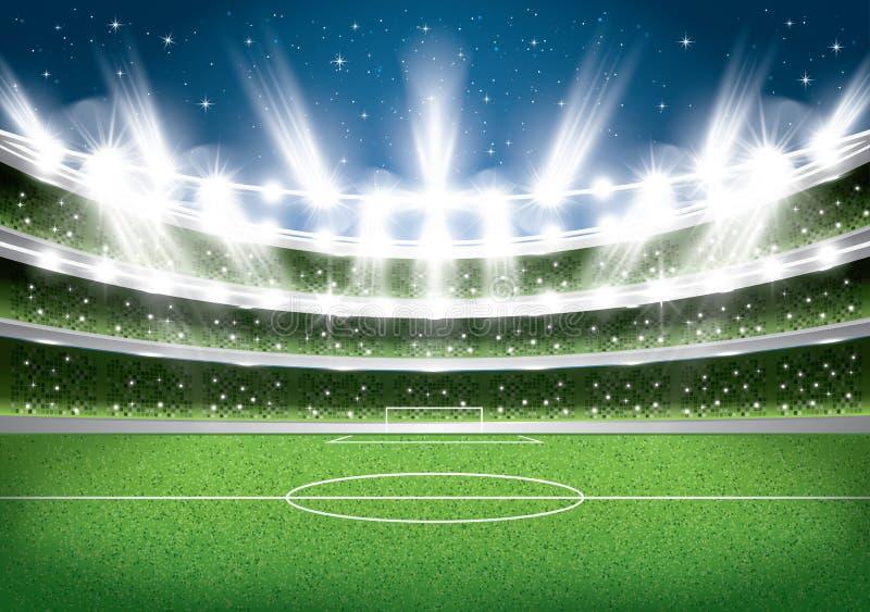 fútbol stadium Arena del fútbol stock de ilustración
