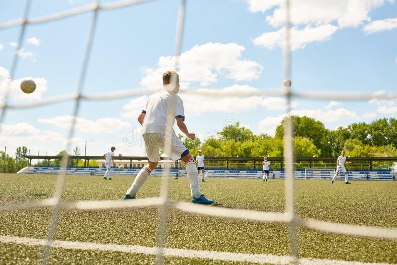 Fútbol Team Practice imágenes de archivo libres de regalías