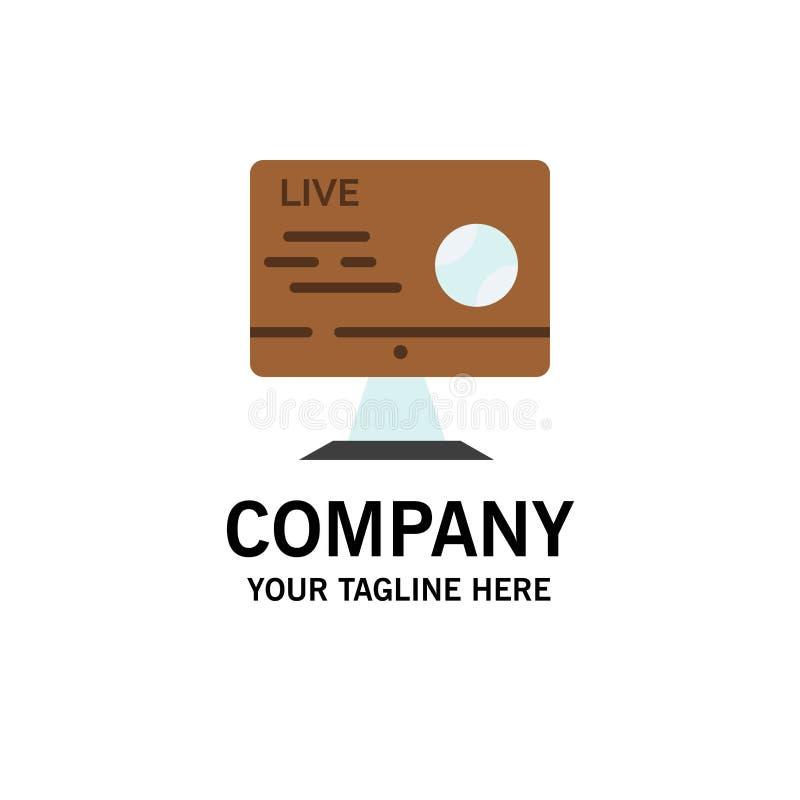Fútbol, vivo, fútbol, deporte, negocio Logo Template de la corriente color plano stock de ilustración