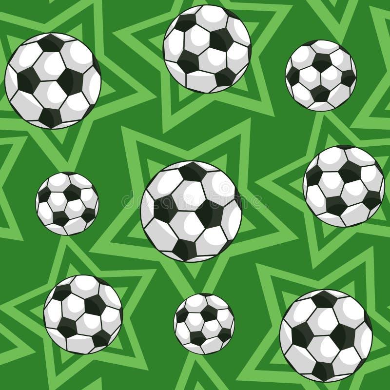 Fútbol y modelo inconsútil de las estrellas stock de ilustración