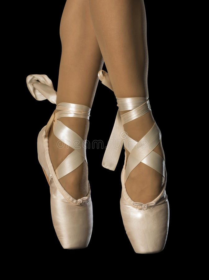Füße im Ballett stockbild