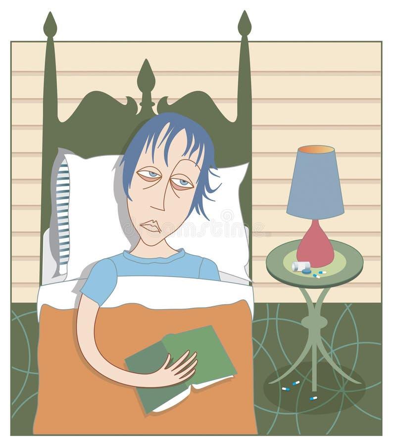 Fühlen blau oder deprimiert? vektor abbildung