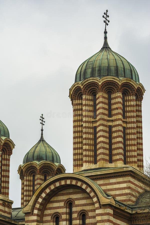 Führen Sie Ansicht des Glockenturms und der Haube einzeln auf lizenzfreies stockfoto