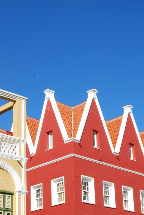 Führen Sie aufbauendes Kolonialcuraçao einzeln auf stockfoto