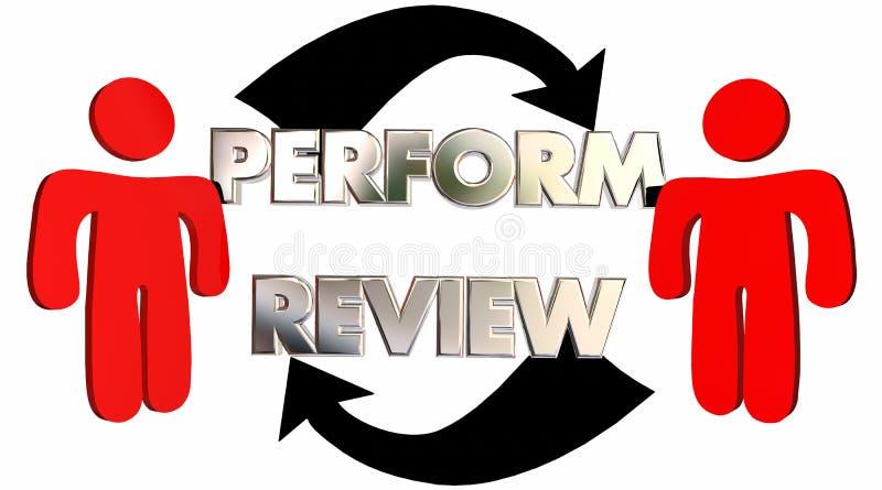 Führen Sie Bericht-Angestellt-Bewertungs-Feedback durch lizenzfreie abbildung
