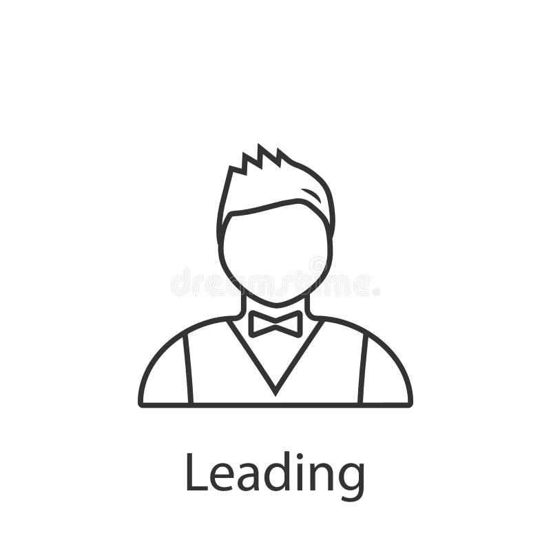 Führende Ikone Element der Berufavataraikone für mobile Konzept und Netz Apps Ausführliche führende Ikone kann für Netz benutzt w stock abbildung
