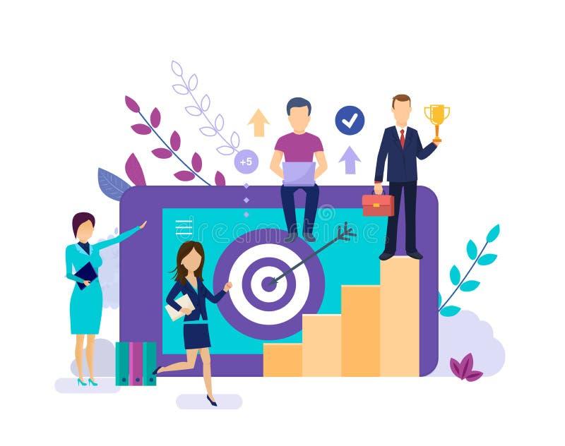 Führender Vertreter der Wirtschaft strebt Erfolg, Motivationsteam zum Karrierewachstum an vektor abbildung